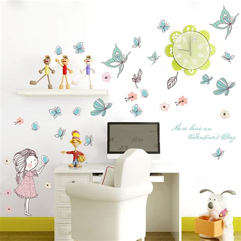 Leaves Wall Sticker butterfly leaves wall decal wall stickers for