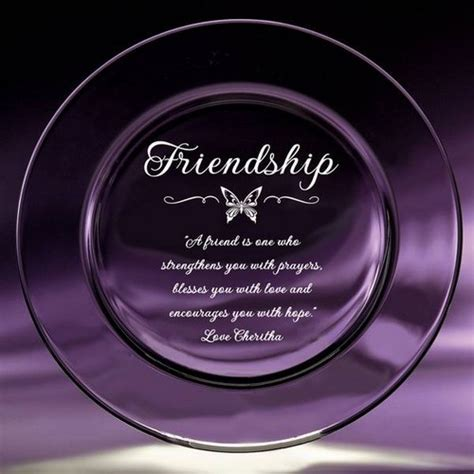 Personalized Friendship Plate   Best Friend Crystal Plate