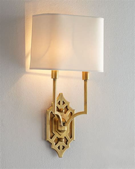 Traditional Wall Sconces Visual Comfort Quot Silhouette Fretwork Quot Sconce Traditional