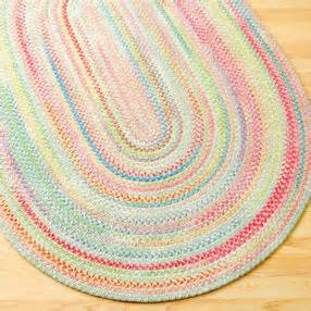 Pastel Area Rugs Rugs Pastel Oval Braided Area Rug 3 X 5 Pastel Multi Rug By The Land Of Nod Olioboard