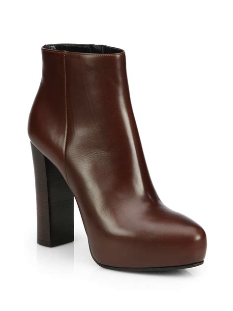 brown leather ankle boots ankle boots brown leather tsaa heel