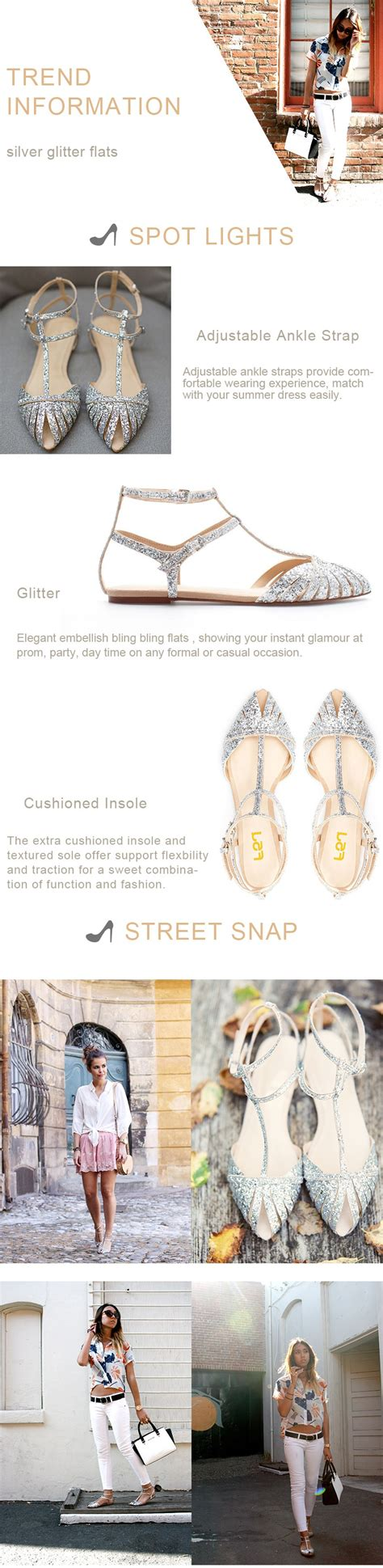 Silver Glitter Flats Wedding by Silver Wedding Flats T Glitter Shoes For Bridesmaid