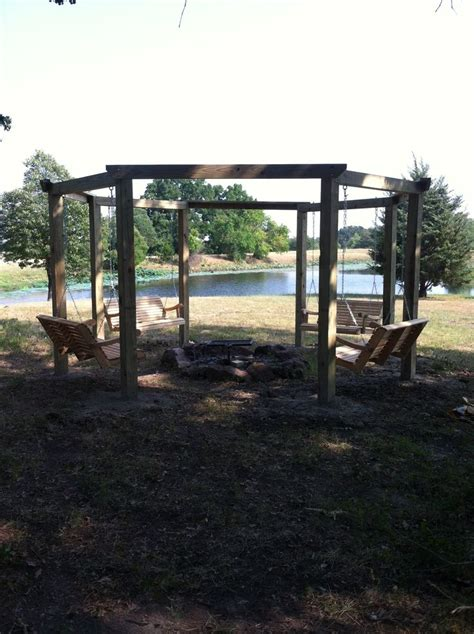 gazebo swing outdoor multi swing gazebo around firepit two solid
