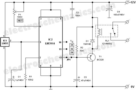 Kitchen Fan Speed Controller Lm35 Circuits