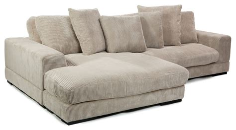 Houzz Sectional Sofas Moe S Home Plunge Sectional In Cappuccino Contemporary Sectional Sofas By Beyond Stores
