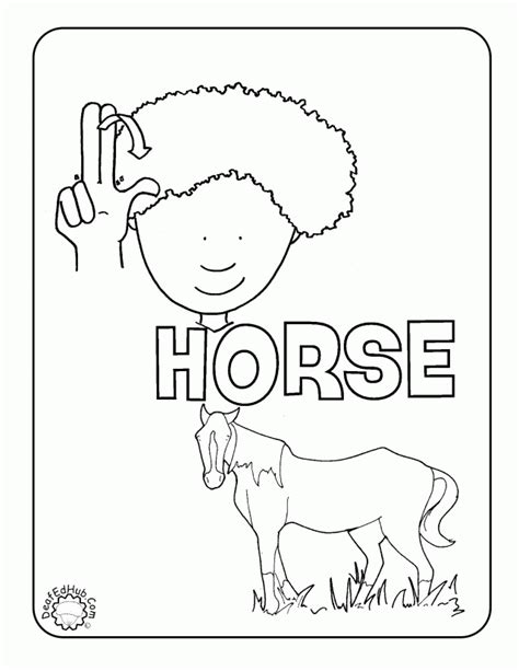 asl coloring pages coloring home