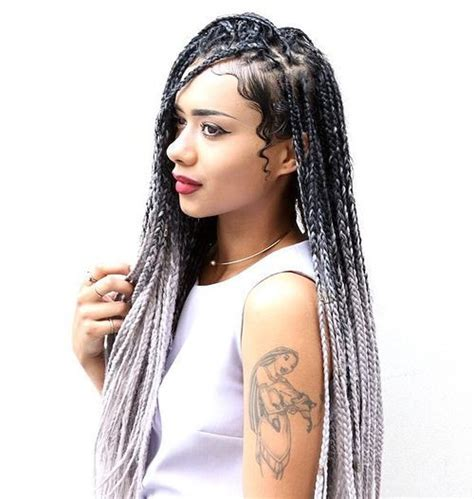 ombre individual braids 50 exquisite box braids hairstyles to do yourself
