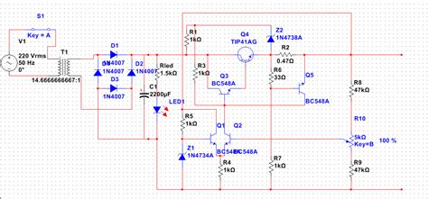1n4007 diode in orcad led problem with a circuit of an controlled variable