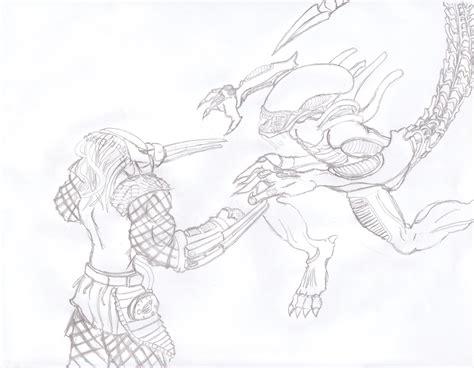 Versus Predator Sketch By Llann On Deviantart