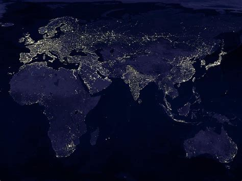 wallpaper earth light the earth at night from space matthew s island of