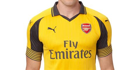 arsenal yellow kit arsenal 16 17 away kit released footy headlines