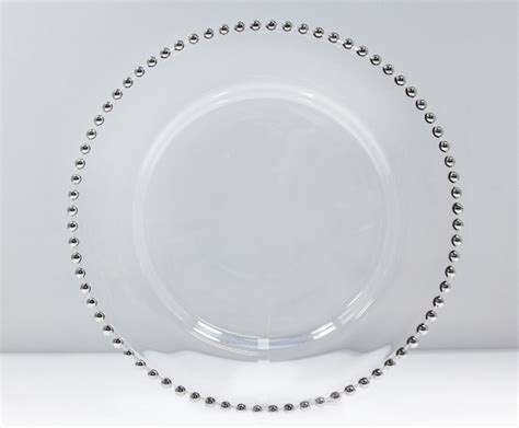 silver beaded charger plates silver beaded charger plate vision furniture