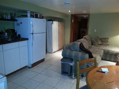 furnished one bedroom basement apartment on near
