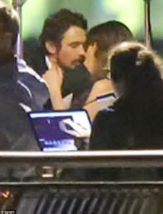 film magic hour kiss scene amber heard and james franco kiss while filming the