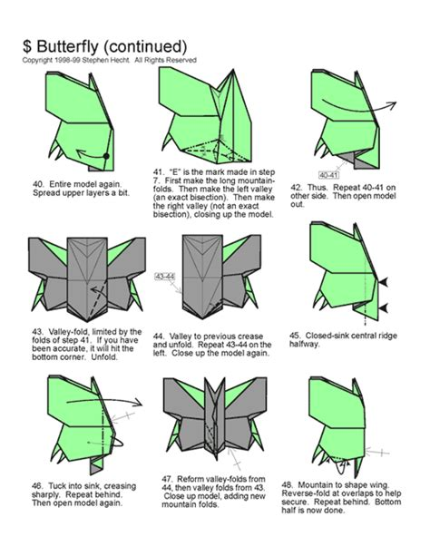 Origami Butterfly Pdf - origami for web wanderers
