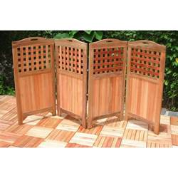 vifah 174 outdoor wood privacy screen 218674 patio furniture at sportsman s guide