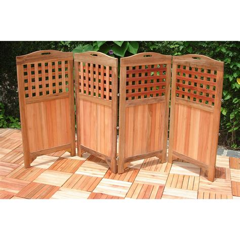 vifah 174 outdoor wood privacy screen 218674 patio