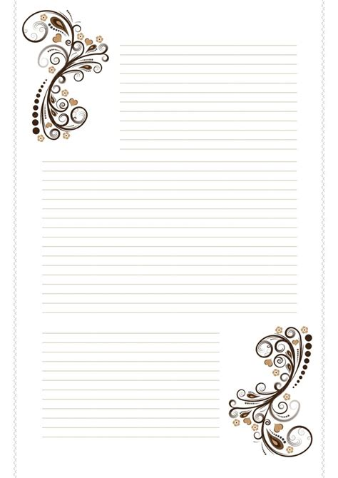 free printable images free stationary brown swirls by cpchocccc on deviantart