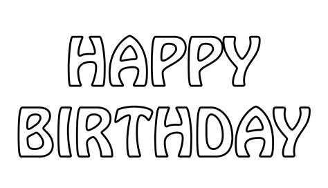 free printable outline fonts happy birthday text outline free stock photo public