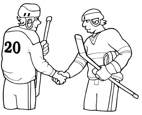 preschool hockey coloring pages sport hockey coloring pages shaking hands sport coloring