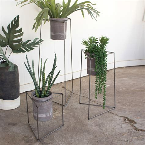 Iron Planters For Outdoors by Nesting Iron Planters Set 3 H8325