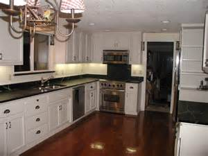 delightful Pics Of Small Kitchen Designs #4: white-cabinet-with-black-countertop-white-cabinets-with-black-laminate-countertops---my-kitchen-pictures.jpg