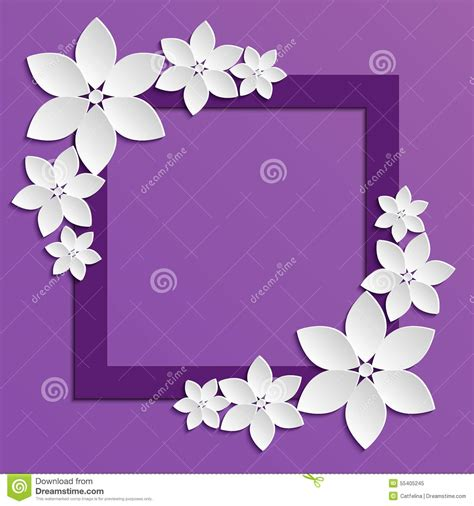 decorative designs on paper decorative violet papercut border with white paper flowers