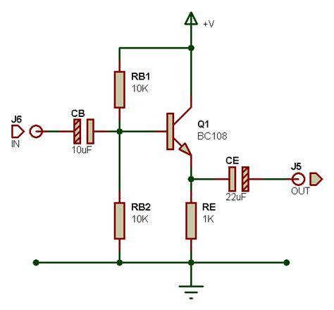 transistor pnp montage collecteur commun