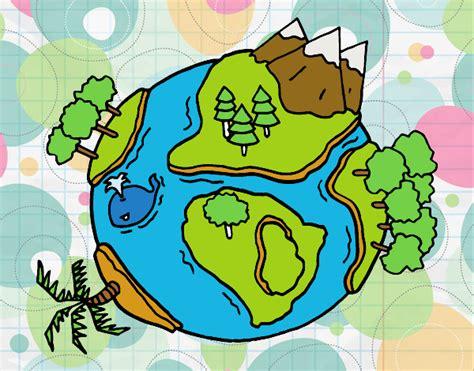 imagenes de ambientes naturales para colorear dibujo de planeta natural pintado por zebazpvd en dibujos
