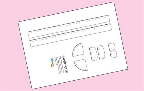 How To Make A Paper Ruler - ruler cut out popflyboys
