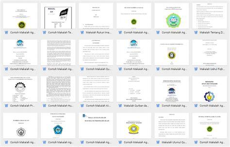 format makalah sederhana word contoh makalah lengkap download format microsoft word