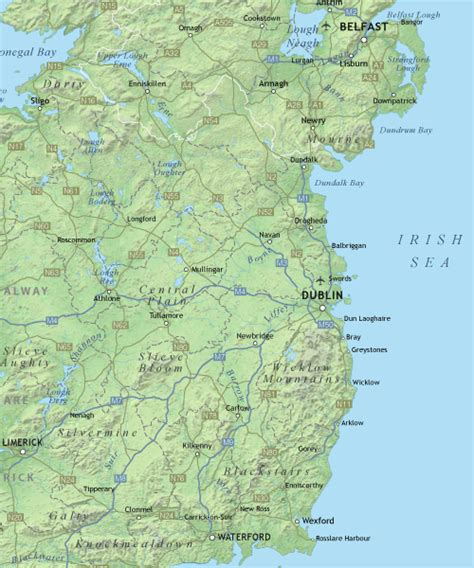 ireland physical map maproom