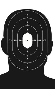 printable head targets 30 police shooting targets 19x25 full color heavy paper