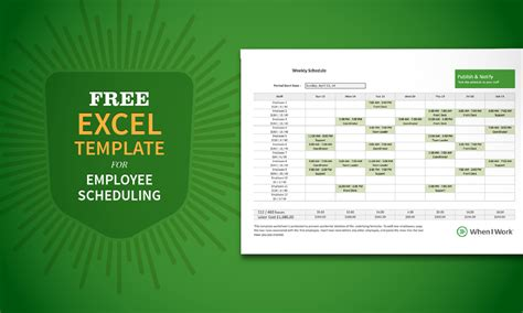Free Excel Template For Employee Scheduling When I Work Retail Employee Schedule Template