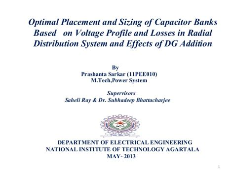 capacitor placement problems optimal capacitor bank placement 28 images optimal placement and sizing of capacitor banks