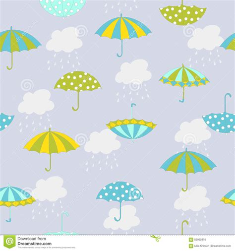 umbrella pattern raincoat umbrella pattern stock vector illustration of design
