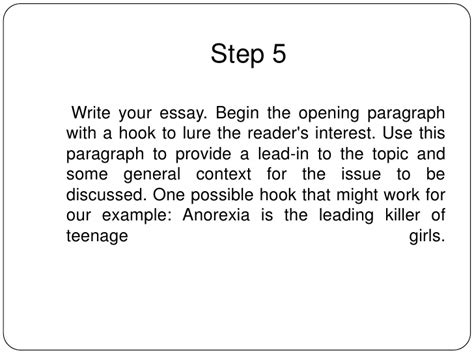 How To Write A Hook For An Essay by How To Write An Informative Essay