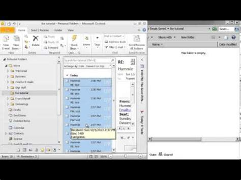 drive outlook saving emails in outlook to hard drive youtube
