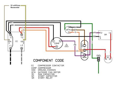 ac wairing air conditioner wiring diagram capacitor wiring diagram