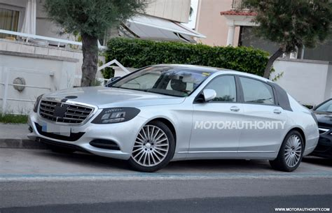 new mercedes s class 2015 spyshots 2015 mercedes s class pullman with interior