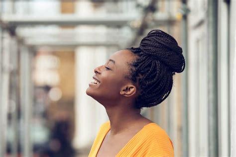 high bun hairstyles black women casual box braids bun hairstyles to look cool