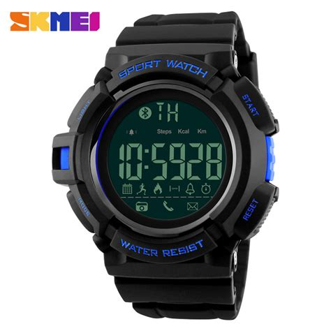 Jam Smartwatch I One skmei jam tangan olahraga smartwatch bluetooth dg1245 bl black blue jakartanotebook