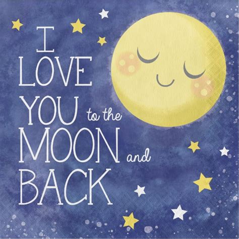 I You To The Moon And Back Baby Shower by I You To The Moon And Back Lunch Napkins