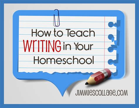 Teach Essay Writing by How To Teach Writing In Your Homeschool