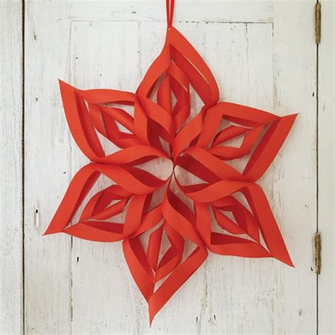Paper Christmas Decorations To Make At Home | 3 d star how to make christmas decorations housetohome