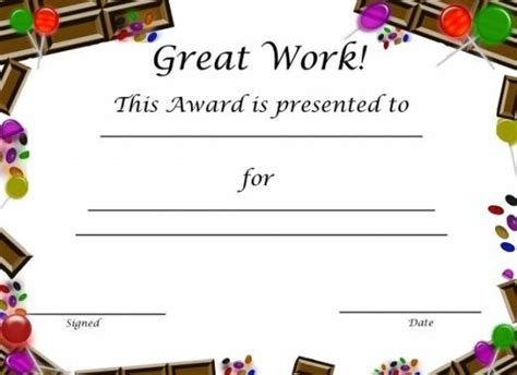 kid certificate templates free printable free printable award certificates for award