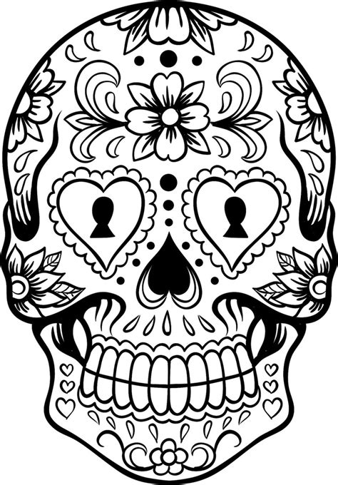 Extra Large Sugar Skull Coloring Page Az Coloring Pages Sugar Skull Coloring Pages