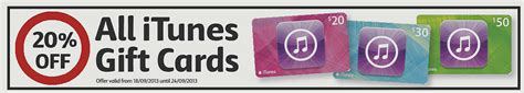 Coles Gift Card Discount - expired get a 20 discount on itunes credit at coles gift cards on sale