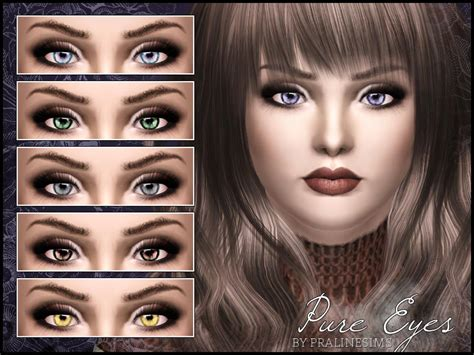sims 4 cc sclera contact pralinesims pure eyes