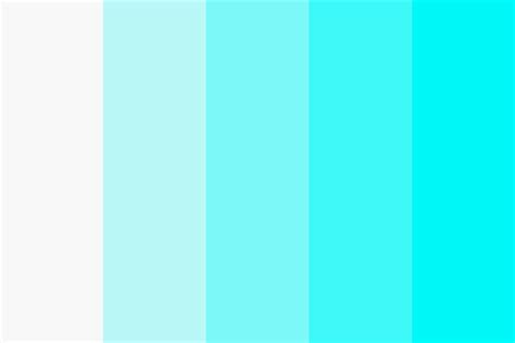 what color is cyan white to cyan color palette